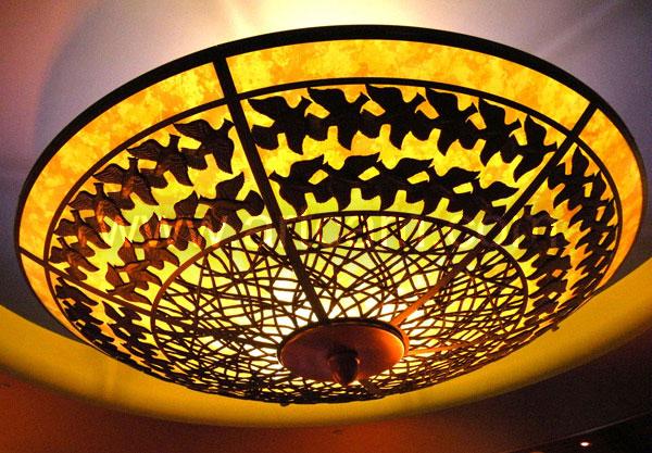 Lámpara impresa, realizada con ArtCAM Pro