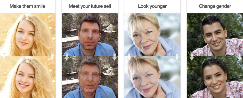 FaceApp con inteligencia artificial
